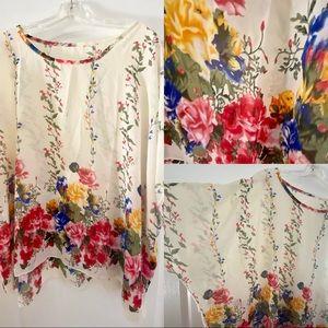 COPY - Blouse floral wide arm L